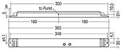 Lieferung mit Duration Link in 3 h-Pos. und Standard/High Output Link in Standard-Pos. Für Betriebsdauer von 1 h Duration Link entfernen. Für High Output Standard/High Output Link entfernen. Einstellungen vor Akku- und Netzanschluss vornehmen.