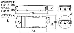 Hinweis: Lieferung LED-Treiber mit Duration DIP-Schalter (2-fach) in 3 Stunden-Position. DIP-Schalter und I-SELECT 2 PLUG vor Akku- und Netzanschluss einstellen.