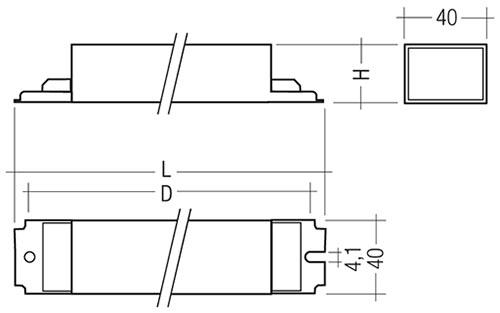 PC T8 TEC, 18 – 58 W - Tridonic