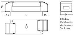 ACU SC 15x43x30mm CLIP-ON SR PA