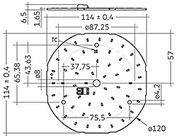 CLE G1 120mm 2500lm SNC