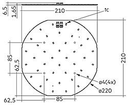 CLE G3 220mm 1500lm EM ADV