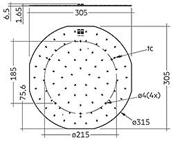 CLE G3 315mm 4000lm EM ADV
