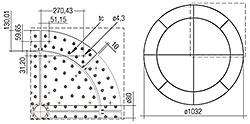 CLE Lentille quart de cercle G1 376 mm 2100 lm ADV + CLE lentille wing G1 516 mm 900 lm ADV