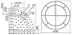 CLE Quadrant Lens G1 376mm 2100lm ADV + CLE Wing Lens G1 516mm 900lm ADV