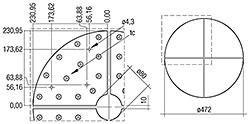 CLE Quadrant Lens G1 236mm 900lm ADV