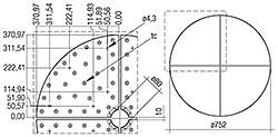 CLE Quadrant Lentille G1 376 mm 2100 lm ADV