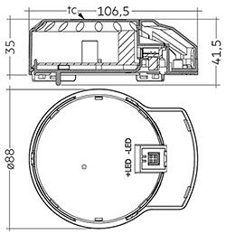 DLA G2 200mm 3000lm 8x0 SNC EM ECG