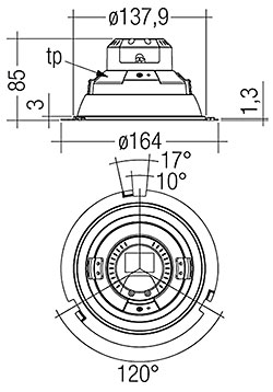 DLA G1 150mm 2000lm 8xx R SNC