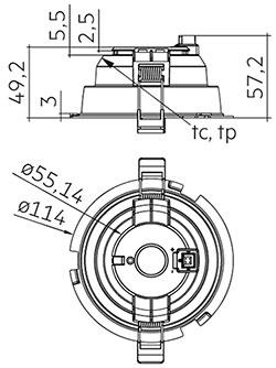 DLA G2 100mm 1000lm 8x0 SNC