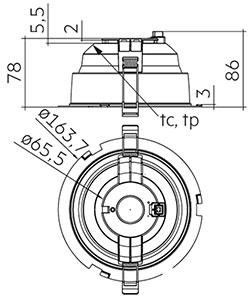 DLA G2 150mm 1000/2000lm 8x0 SNC