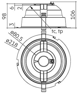 DLA G2 200mm 2000/3000lm 8x0 SNC