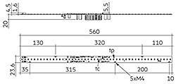 LLE AC G1 24x560mm 2400lm SNC