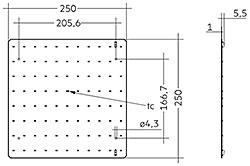 QLE G3+ 250x250mm 1250lm ADV