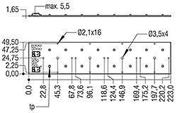 RLE G1 49x223mm 4000lm xxx EXC OTD