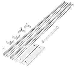 ACE Surface mount kit 1200x300mm AL WH